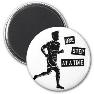 Motivational Running Man Quote Black Fridge Magnet