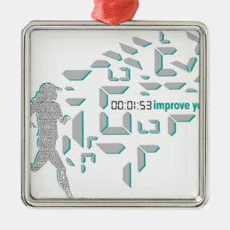 Motivational Running Metal Ornament