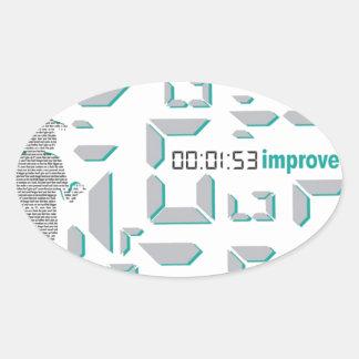 Motivational Running Oval Sticker