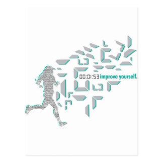 Motivational Running Postcard