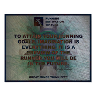 Motivational Running Quote #033 Poster