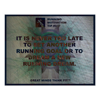 Motivational Running Quote #037 Poster