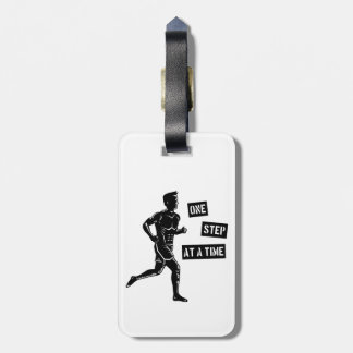 Motivational Running Quote Black Luggage Tag
