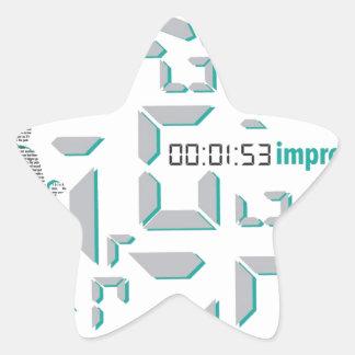 Motivational Running Star Sticker