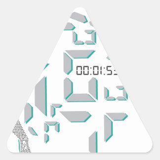 Motivational Running Triangle Sticker