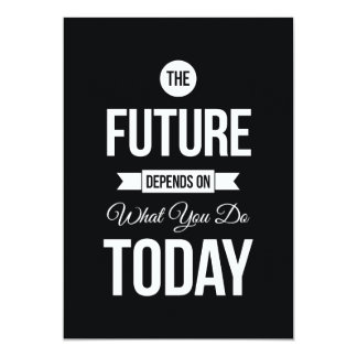 Motivational Saying The Future Black Personalized Invite