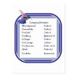 Motivational Scripture List for Emergency Post Card