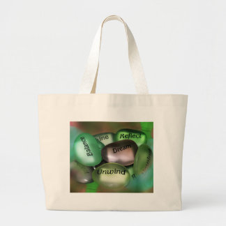 Motivational Sea Glass Large Tote Bag