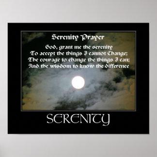 motivational serenity prayer inspirational poster