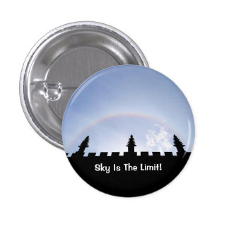 Motivational Sky Is The Limit Sun Halo Over Oxford Pinback Button