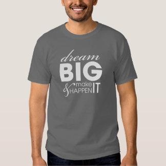 Motivational Slogan Dream Big Work Success Tee Shirts