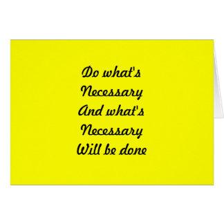 Motivational slogans card