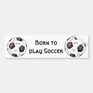 Motivational Soccer Game, Sports Words Bumper Sticker