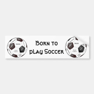 Motivational Soccer Game, Sports Words Car Bumper Sticker