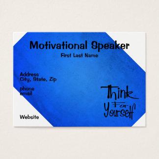 Motivational Speaker Blue Business Card