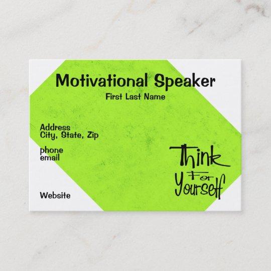 Motivational speaker business card zazzle motivational speaker business card colourmoves