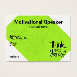 Motivational Speaker Business Card