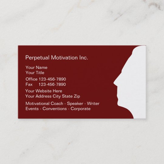 Motivational speaker business cards zazzle motivational speaker business cards colourmoves