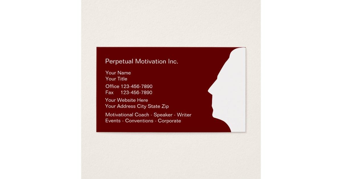 Motivational Speaker Business Cards | Zazzle.com