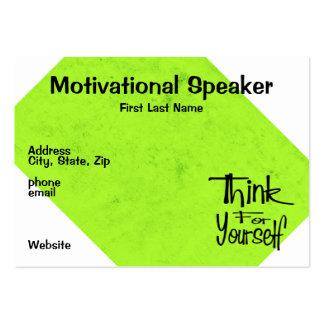 Motivational Speaker Large Business Card