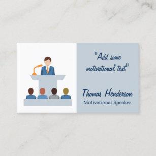 Motivational speakers business cards zazzle motivational speaker life coach business card colourmoves