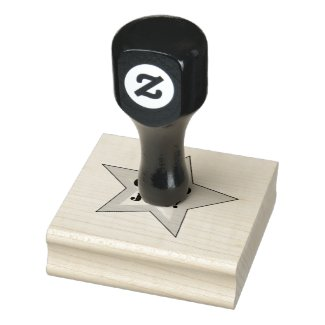 Motivational Star Design Teacher's Wooden Stamp