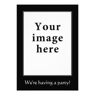 Motivational style vertical border invite personalized invite