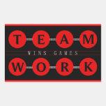 Motivational TEAMWORK  Wins Games Stickers