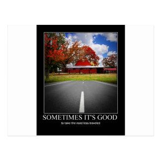 Motivational theme postcard