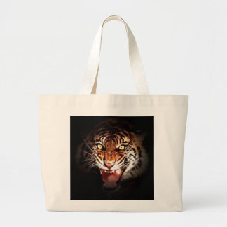 Motivational Tiger Face Jumbo Tote Bag