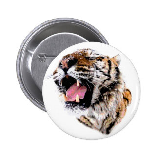 Motivational Tiger Face 2 Inch Round Button