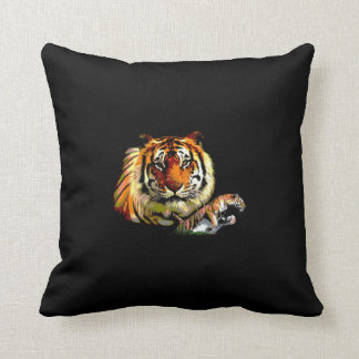 Motivational Tiger Face Throw Pillow
