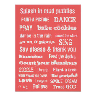 MOTIVATIONAL TRUST GOD MURAL wall hanging Poster