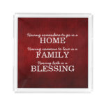 Motivational Typography Family Quote Acrylic Tray
