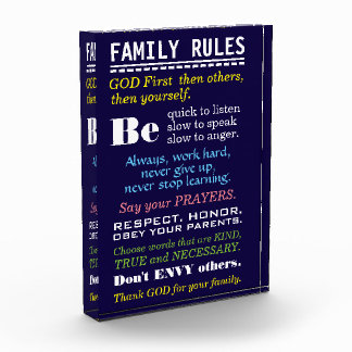 Motivational Typography | Home Sign | Family Rules Photo Block