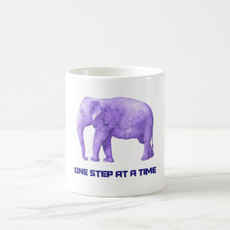 Motivational Typography Purple Watercolor Elephant Coffee Mug