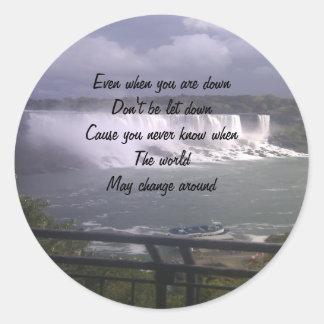 motivational upliftment classic round sticker