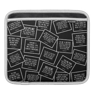 Motivational Volleyball Quotes in Black and White iPad Sleeve