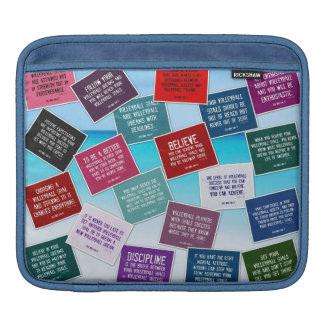 Motivational Volleyball Quotes in Color iPad Sleeve