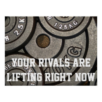 Motivational Weight Lifting Poster