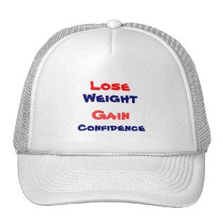 Motivational weight loss mesh hats
