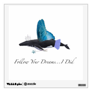 Motivational Whale Poster Wall Sticker