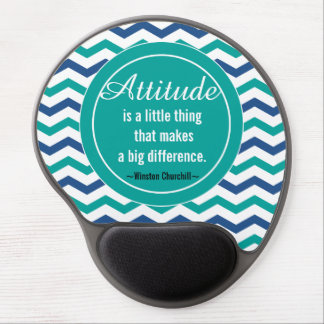 Motivational  Winston  Churchill Quote Gel Mouse Pad