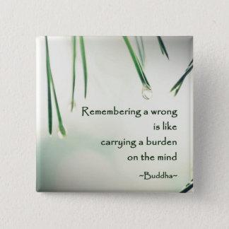 Motivational Wisdom Buddha's Teaching Photography Pinback Button