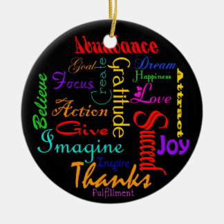 Motivational Word Collage Ornament