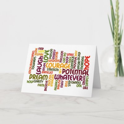 ... birthday card design using motivational word-art th