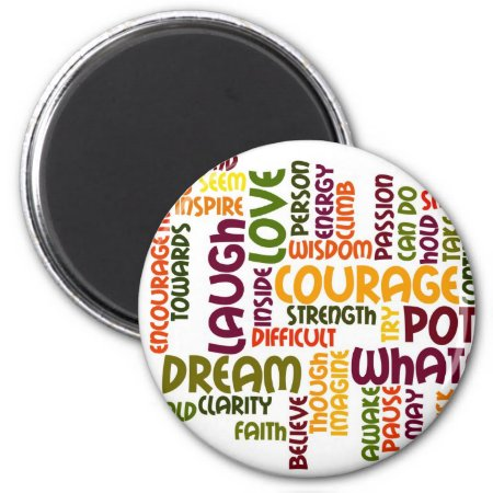 Motivational Words #1 fridge magnet