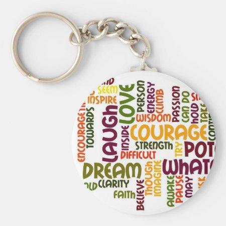 Motivational Words #1 keychain