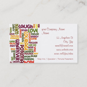 Motivational speaker business cards templates zazzle motivational words 1 positive encouragement business card colourmoves