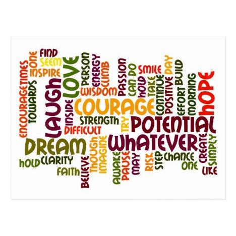 Motivational Words #1 Positivity Postcard